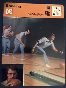 EARL ANTHONY BOWLING SPORTSCASTER card 1977, Collectible, Bowling