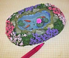Miniature Fantastic Landscaped Goldfish Pond #5, MEDIUM: DOLLHOUSE 1:12 Scale