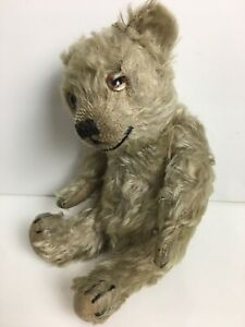 Vintage Steiff ? Mohair Small Jointed Humpback Teddy Bear Old Golden Brown