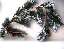 1,3 M Nieve incrustado Navidad Guirnalda con bellotas Nuevo