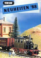 Trix Minitrix Neuheiten 1988 Prospekt Modellbahnprospekt brochure model railway