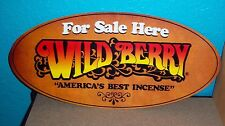 "25 Genuine Wild Berry 11"" Herbal Mist incense sticks in a plastic wrapper."