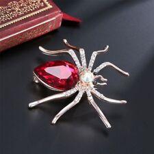 Red Women Rhinestone Spider Gift Pin Brooch Fashion Jewelry