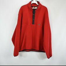 Vintage 90s New Woolrich Mens Large Spell Out Snap Button Fleece Sweater Red