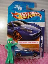 HTF 2011 FTE Hot Wheels FERRARI 458 ITALIA #146✿Blue✿copper Faster Than Ever