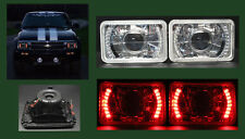 H4656 H4666 H4651 H4656 Red LED Halo Projector Headlights 4x6