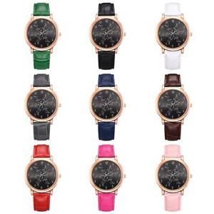 Lvpai Fashion Women Round Dial PU Leather Band Analog Quartz Watch Wrist Watches