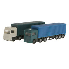 2Pcs Model Container Truck Freight Car 1:150 N Scale Model Figure Layout Toy