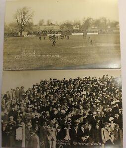 1912 UNIVERSITY OF ILLINOIS HOMECOMING GAME REAL PHOTO POSTCARDS FOOTBALL