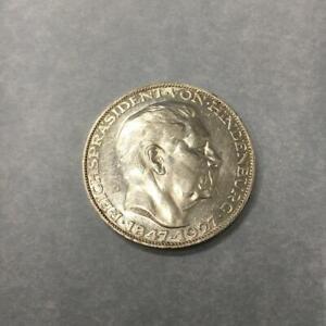 Silbermedaille 80. Geburtstag Reichspräsident  von Hindenburg 1847-1927 Silber