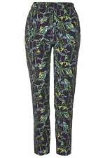 Topshop Wild Flower Print Skinny Cigarette Trousers - UK 4/EU 32 - RRP £39 - New