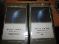 Great Courses Meaning From Data Statistics Made Clear Parts 1 & 2 with books