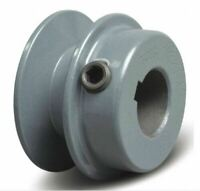 """Motor Pulley 5/8"""" Bore x 2"""" Dia Solid Cast Iron for V-Belt Set Screw Fixed Bore"""