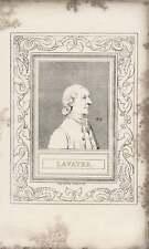 1835 Engraved Portrait Lavater  G Cooke