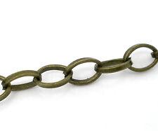 4m Gliederkette Königskette Halskette Blogger bronze Meterware 6x8mm Schmuck DIY