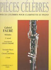 Pièces célèbres pour Clarinette et Piano. 1er recueil. Mélodies