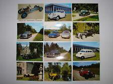 Cpa x 12 Musée automobile ancienne St Dizier - Villiers en lieu Dpt 52 - Voiture