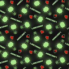 840eed1d7e Minecraft Videojuego subir de nivel a mod negro algodón tela cuarto gordo