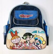 e8f14d79983e 90s Cartoon Network Powerpuff Girls Blossom Bubbles Buttercup Blue Backpack  Bag