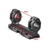 Daul 25mm-30mm Ring 20mm Picatinny Rail Quick Release Auto Lock Scope Mount Alum