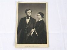 1860s Mr & Mrs Abraham Lincoln CDV Photo Engraving Matthew Brady Thomas Le Mere