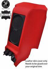 Centro posteriore rossa SUBWOOFER PANNELLO Vera Pelle copertura si adatta a GT-R R35 2008-2017
