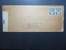Toga WW2 Censor Cover to USA / Sm Edge Tears / 1 Through Stamp - Z10704
