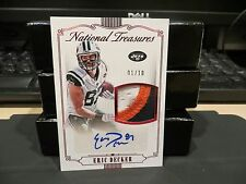 National Treasures Autograph Game Worn Jersey Jets Eric Decker 01/10  2015