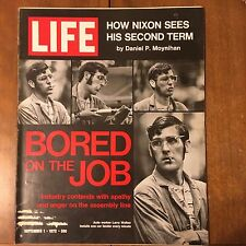 LIFE Magazine ~ September 1 1972 ~ Bored on the Job ~ The Big Win ~70's Ads