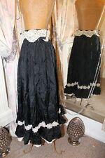 Antiguo Victoriano Eduardiano 1920s Negro Falda De Encaje-Burlesque Steampunk
