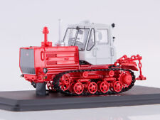 Scale model truck 1/43 Tractor T-150 crawler (red/white)