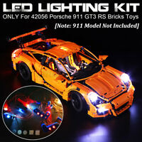 USB LED Licht Beleuchtung Set nur Für lego 42056 911 GT3 Rs Steine Spielzeug Β