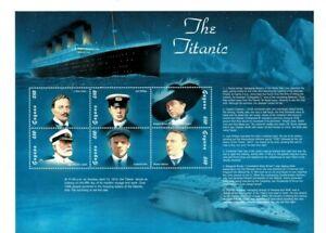 Guyana - 1998 - Titanic - Sheet of Six - MNH