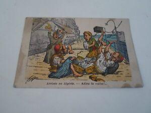 Arrive En Algerie - Adieu La Valise - (Algeria) Vintage Comic Postcard  §B3704