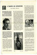 Documents anciens des années 50 de MAURICE SERULLAZ : LES EXPOSITIONS