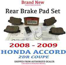 2008-2009 Honda ACCORD 2DR COUPE Genuine Factory OEM Rear Brake Pads