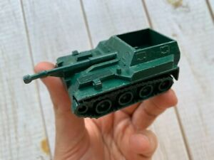 Vintage Russian Soviet Army Military WW2 Cast Metal Tank Tin Toy