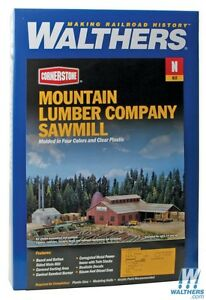 3236 Walthers Cornerstone Mountain Lumber Sawmill - N Scale
