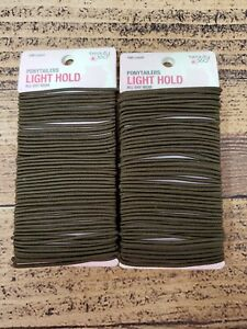 Beauty 360 Ponytail Holders Light Hold All Day Wear 200 Elastics Ct Dark Brown