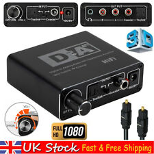 Digital Optical Coaxial Toslink To Analog Audio Adapter Converter RCA L/R 3.5mm