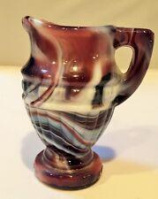 Imperial Glass Purple Slag Miniature Pitcher Vintage