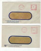 Australia 2 x MELBOURNE postage paid 1957 commercial covers