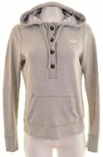 HOLLISTER Womens Hoodie Jumper Size 16 Large Grey Cotton  BC14
