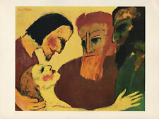 """1959 Vintage EMIL NOLDE """"THE WOMAN TAKEN IN ADULTERY"""" COLOR Offset Lithograph"""