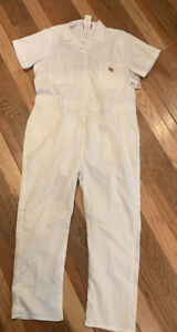 Dickies Coveralls 2XL White Short Sleeve