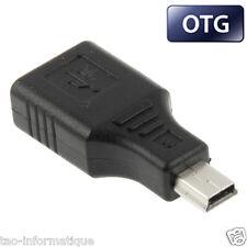 Adaptateur mini usb vers usb femelle OTG pour autoradio ou appareil mini usb