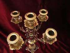 laiton chandelier 41cm baroque massif chandelier déco or 5 bras ancien