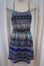 Aqua Dress Sz XS Blue Gray Black Combo Spaghetti Strap Summer Casual dress