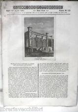 ANTICA STAMPA INCISIONE 1843 Santa Maria Catena Palermo Castruccio Castracani di