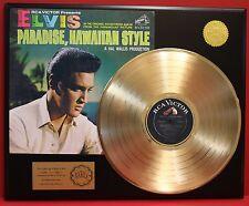 ELVIS PRESLEY GOLD LP LTD EDITION RARE RECORD DISPLAY AWARD QUALITY